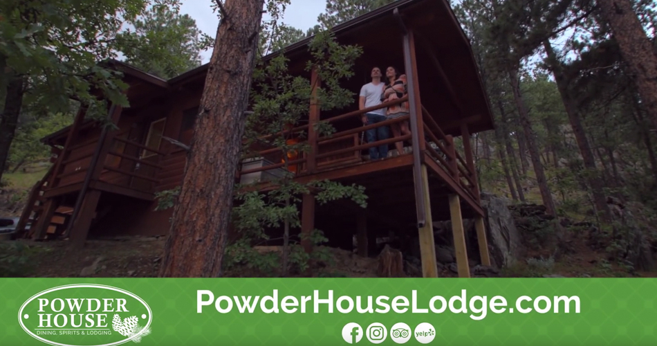 Screen shot of Powder House Lodge video.