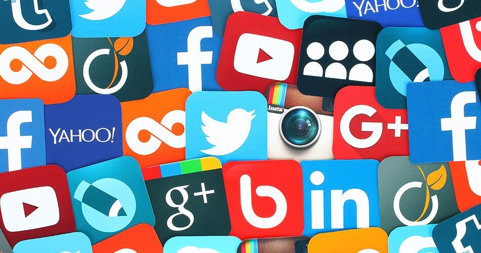 Image of various social media icons.