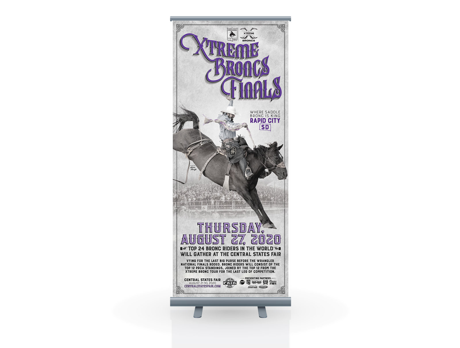 Xtreme Broncs Retractable Banner