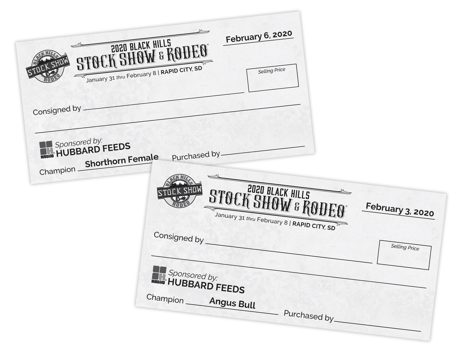 Oversized Checks for Cattle Sales
