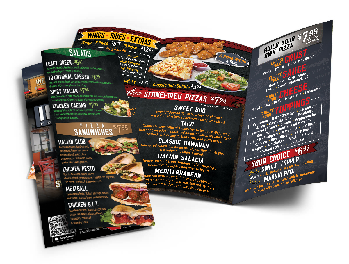 Inferno Food by Fire To-Go Menu