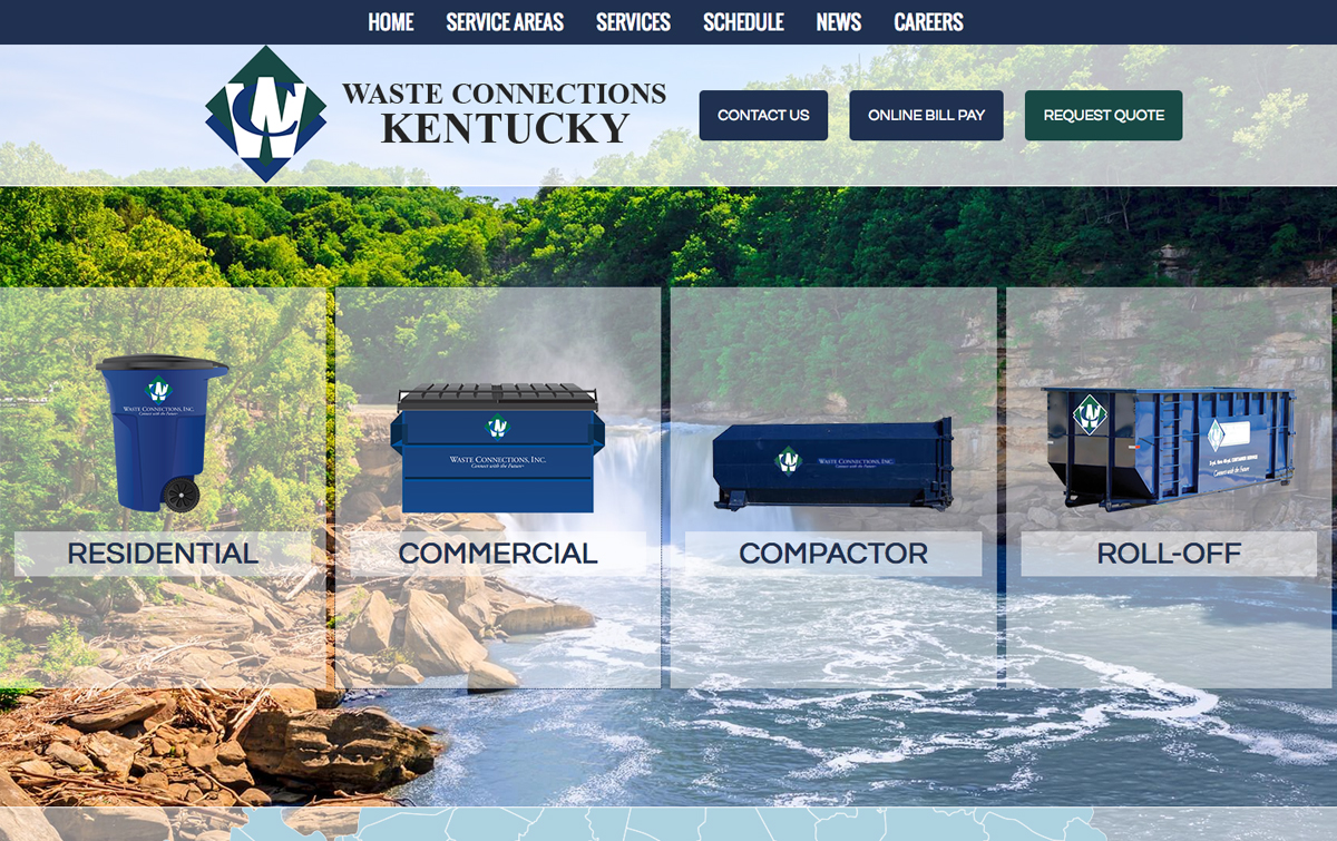 Waste Connections Kentucky Website Development